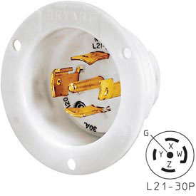 Bryant 72130MB TECHSPEC® Base, L21-30, 30A, 3ph 120/208V AC, White