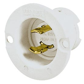 Bryant 7466N TECHSPEC® Midget Locking, ML-1P, 15A, 125V, White