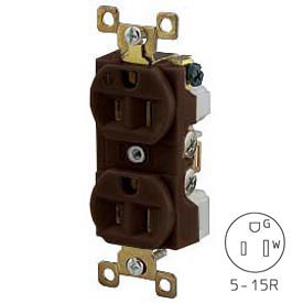 Bryant BRY5262BCR TECHSPEC® Industrial Grade Duplex Corrosion Resistant, 15A, 125V, Brown