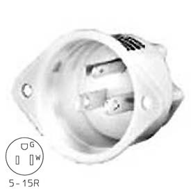 Bryant BRY8200WL TECHSPEC® Hospital Grade Duplex Receptacle, 15A, 125V, White, Lighted Face