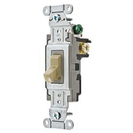 Bryant CS120BAL Commercial Grade Toggle Switch, Single Pole, 20A, 120/277V AC, Almond