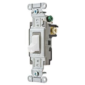 Bryant CS320BW Commercial Grade Toggle Switch, Three Way, 20A, 120/277V AC, White