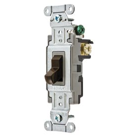 Bryant CSB220B Commercial Grade Toggle Switch, Double Pole, 20A, 120/277V AC, Brown