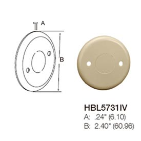 Bryant HBL5731IV Round Blank Cover, Ivory