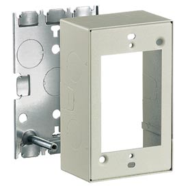 Bryant HBL5748IV 1 Gang Switch & Receptacle Box, Ivory