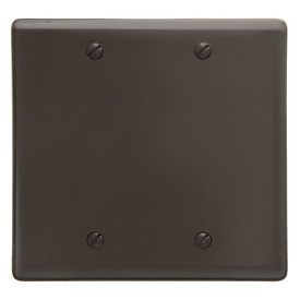 Bryant NP23 Box Mounted Blank Plate, 2-Gang, Standard, Brown Nylon