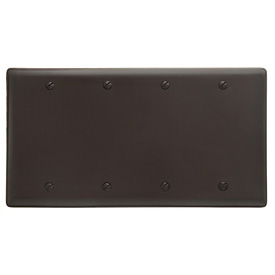 Bryant NP43 Box Mounted Blank Plate, 4-Gang, Standard, Brown Nylon