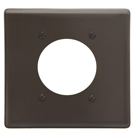 Bryant NP703 Single Receptacle Plate, 2-Gang 1 Device-Gang, Standard, Brown Nylon