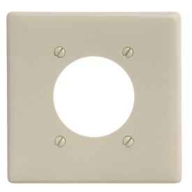 Bryant NP703I Single Receptacle Plate, 2-Gang 1 Device-Gang, Standard, Ivory Nylon