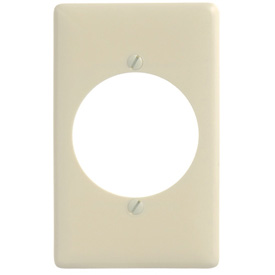 Bryant NP724AL Single Receptacle Plate, 1-Gang, Standard, Almond Nylon, 2.15 open