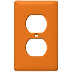 Bryant NP8OR Duplex Plate, 1-Gang, Standard, Orange, Nylon