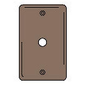 Bryant NPJ11 Telephone and Coax Plate, 1-Gang, Mid-Size, Brown Nylon