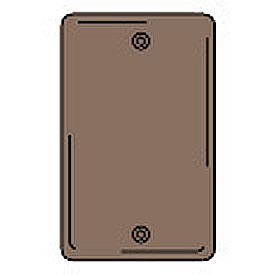 Bryant NPJ13 Box Mounted Blank Plate, 1-Gang, Mid-Size, Brown Nylon