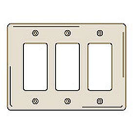 Lutron Claro 4 Gang Decorator Wall Plate White