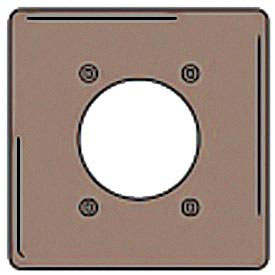 Bryant NPJ703 Single Receptacle Plate, 2-Gang 1 Device-Gang, Mid-Size, Brown Nylon
