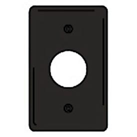 Bryant NPJ7BK Single Receptacle Plate, 1-Gang, Mid-Size, Black Nylon, 1.40 open