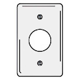Bryant NPJ7W Single Receptacle Plate, 1-Gang, Mid-Size, White Nylon. 1.40 open