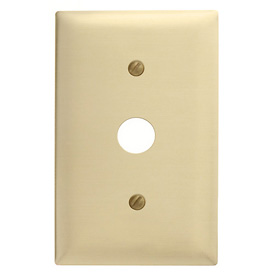 Bryant SB12 Telephone and Coax Plate, 1-Gang, Standard, Brass