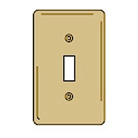 Bryant SBP1 Toggle Plate, 1-Gang, Standard, Brass Plated