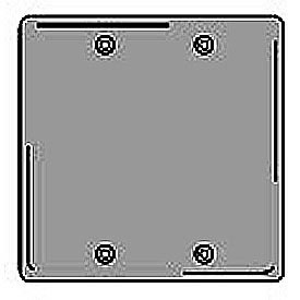 Bryant SCH23 Box Mounted Blank Plate, 2-Gang, Standard, Chrome Plated