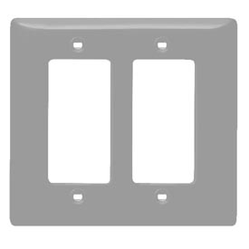Bryant SCH262 Styleline Rectangular Plate, 2-Gang, Standard, Chrome Plated
