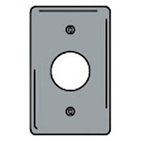 Bryant SCH7 Single Receptacle Plate, 1-Gang, Standard, Chrome Plated, 1.40 open