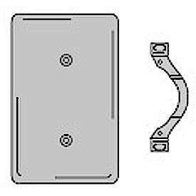 Bryant SS14 Strap Mounted Blank Plate, 1-Gang, Standard, Satin Stainless