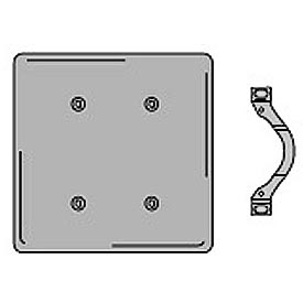 Bryant SS24 Strap Mounted Blank Plate, 2-Gang, Standard, Satin Stainless