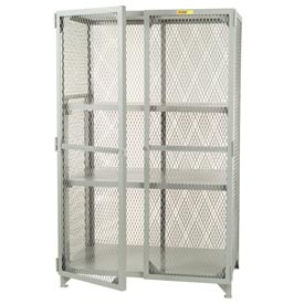 Little Giant®  All Welded Storage Locker, 2 Adj. Center Shelves, 24 x 60