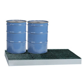 Little Giant® Low-Profile Spill Control Platform SSB-5176 6-Drum 99 Gallon