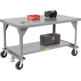 Little Giant®  Mobile Heavy Duty, 7 Gauge, Steel Workbench, 36 x 72