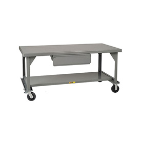 Little Giant®  Mobile Heavy Duty, 7 Gauge, Steel Workbench, Drawer, 42 x 84