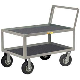 Little Giant® Low Deck Instrument Cart w/Non-Slip Vinyl Shelf Surface, 24 x 36