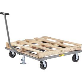Little Giant® Pallet Dolly with T-Handle and Floor Lock PDT-4848-6PHFL - 48 x 48