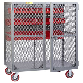 "Little Giant Mobile Tool Security Cabinet SCN-2448-6PY-LP - 48"" x 24"", Louvered Panel"