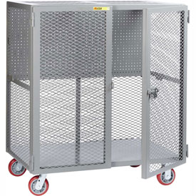 """Little Giant Mobile Tool Security Cabinet SCN-2448-6PY-PB - 48"""" x 24"""", Pegboard Panel"""