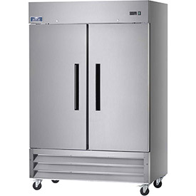 "Arctic Air AF49 Reach In Freezer, 2 Door, White, 49 Cu. Ft., 54""W x 32-3/4""D x... by"