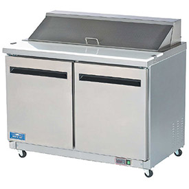 "Arctic Air AMT60R Sandwich/Salad Prep Table, 2 Door, White, 15.5 Cu. Ft., 61-1/4""W x... by"
