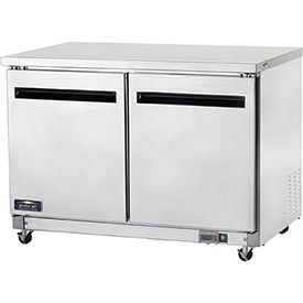 "Arctic Air AUC48F Undercounter Freezer, 2 Door, White, 12 Cu. Ft., 48-1/4""W x... by"