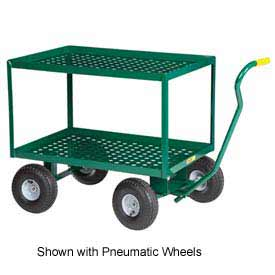 "Little Giant 2 Shelf Nursery Wagon Truck 2LDWP-2436-10-G 24 x 36 10"" Rubber Wheels by"
