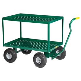 "Little Giant® 2 Shelf Nursery Wagon Truck 2LDWP-2436-10PG - 24 x 36 - 10"" Pneumatic Wheels"