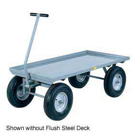 Little Giant Wagon Truck CH-2448-12PFSD Flush Deck 24 x 48 Pneumatic Wheels 2000 Lb. by