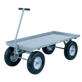 Little Giant Wagon Truck CH-2448-16P Lip Deck 24 x 48 Pneumatic Wheels 3000 Lb. Cap. by