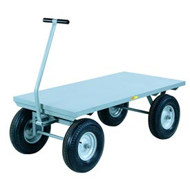 Little Giant Wagon Truck CH-2448-16PFSD Flush Deck 24 x 48 Pneumatic Wheels 3000 Lb. by