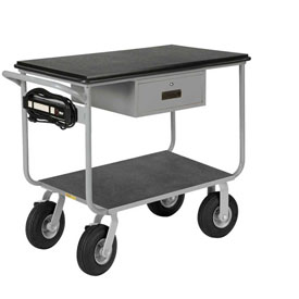 Little Giant® Mobile Work Center, Pneumatic Wheels