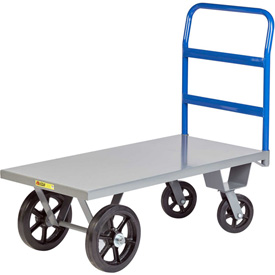 Little Giant® Heavy Duty Platform Truck NBH-3672-MR - 36 x 72 - Rubber Wheels - 3000 Lb. Cap.