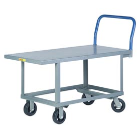 Little Giant® Work Height Platform Truck RNB-2448-6MR - 24 x 48 - Mold-On Rubber Wheels