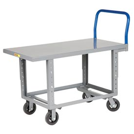 Little Giant® Adjustable Work Height Platform Truck RNB-2460-6MR-AH - 24 x 60 - Mold-On Rubber