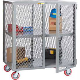 Little Giant® Mobile Storage Locker SC-3072-6PPY 1 Center Shelf 30x72 Polyurethane Whls