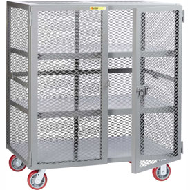Little Giant® Mobile Storage Locker SC2-3072-6PPY, 2 Center Shelves, 30 x 72, Poly Wheels